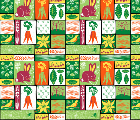 Garden Grid 5A fabric by vinpauld on Spoonflower - custom fabric