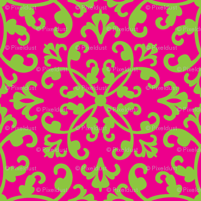 Contessa Damask - Lime Margarita