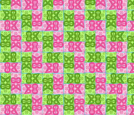 Tiki_Zig_Zag fabric by eclectic_mermaid on Spoonflower - custom fabric