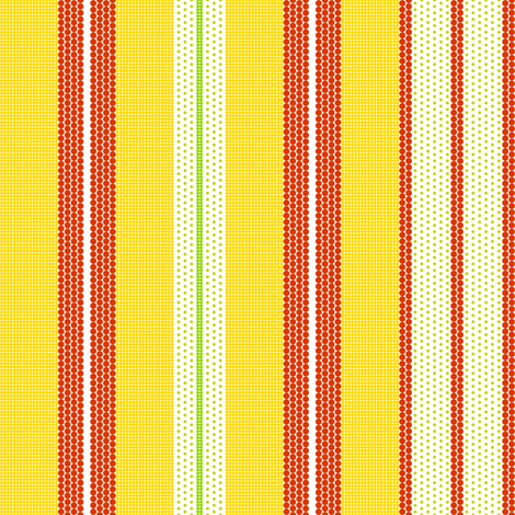 Pointillist Stripes - Carrie's Fruit Bowl fabric by penina on Spoonflower - custom fabric