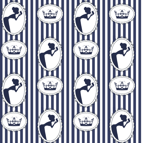The Frog Prince in Navy fabric by delsie on Spoonflower - custom fabric