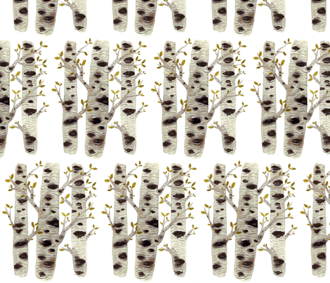 Birch Trees fabric by gollybard on Spoonflower - custom fabric