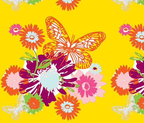 Butterfly Garden fabric by evtorrezart on Spoonflower - custom fabric