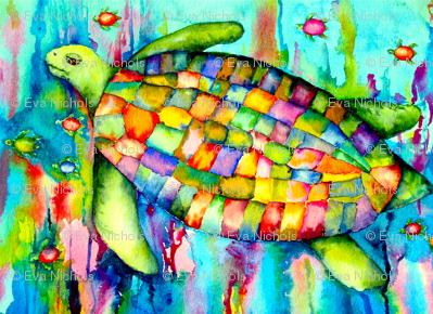 Rainbow Turtle by SPYKE420 on DeviantArt