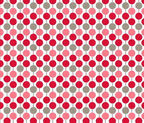 Beaded Dot Red fabric by melaniesullivan on Spoonflower - custom fabric