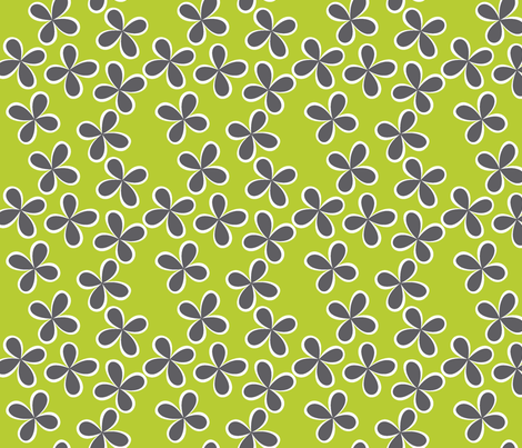 Flirty Floral Lime fabric by melaniesullivan on Spoonflower - custom fabric