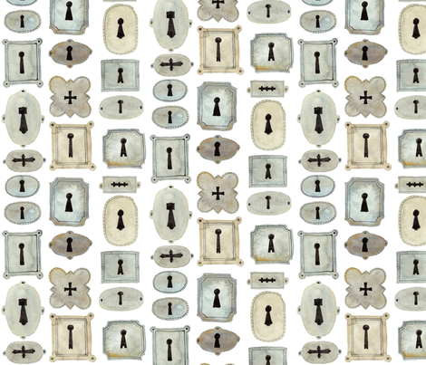 Escutcheons - Florentine Collection fabric by gollybard on Spoonflower - custom fabric
