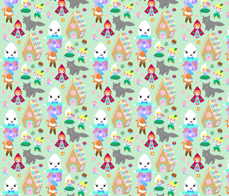 Kawaii Storybook Fabric fabric by fantastictoys on Spoonflower - custom fabric