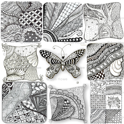 Zentangle Fabric 1