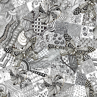 Zentangle Fabric 2