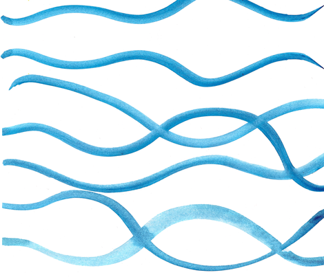 C'EST LA VIV™ Summer Breeze collection_Waves too fabric by cest_la_viv on Spoonflower - custom fabric