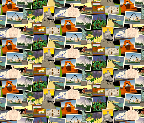 Roadtrip USA fabric by evenspor on Spoonflower - custom fabric