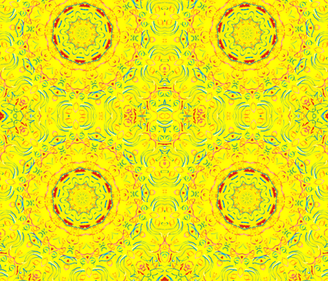 Yellow There Kaleidescope fabric by audarrt on Spoonflower - custom fabric