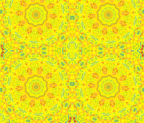 Yellow There Kaleidescope 2 fabric by audarrt on Spoonflower - custom fabric