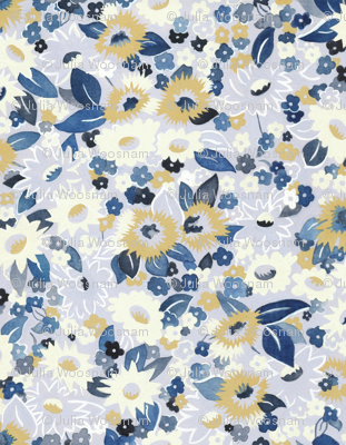 Daisies blue