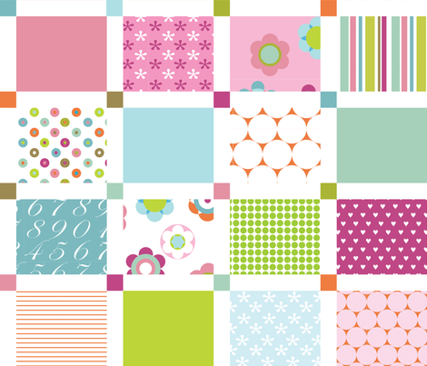 Bloom Cheater Quilt fabric by flowerpress on Spoonflower - custom fabric