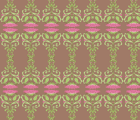 Nouveau Bloom fabric by delsie on Spoonflower - custom fabric