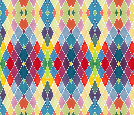 C'EST LA VIV™ ARGYLE & DIAMOND Collection_DIAMONDS  fabric by cest_la_viv on Spoonflower - custom fabric