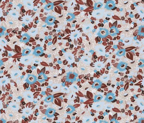 Daisies aqua fabric by ashland_house_designs on Spoonflower - custom fabric