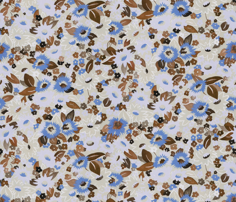 DaisiesBrown fabric by ashland_house_designs on Spoonflower - custom fabric