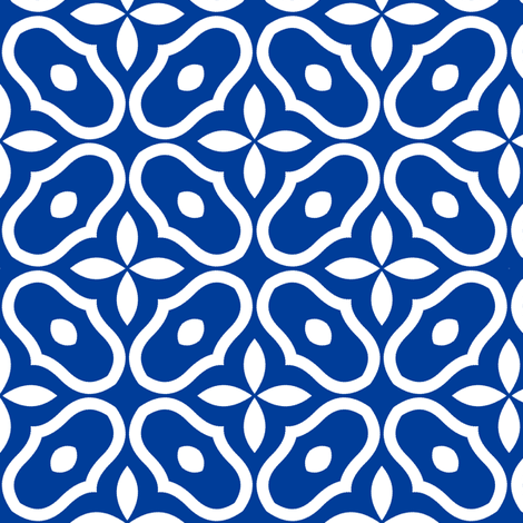 Mosaic - Deep Blue fabric by inscribed_here on Spoonflower - custom fabric