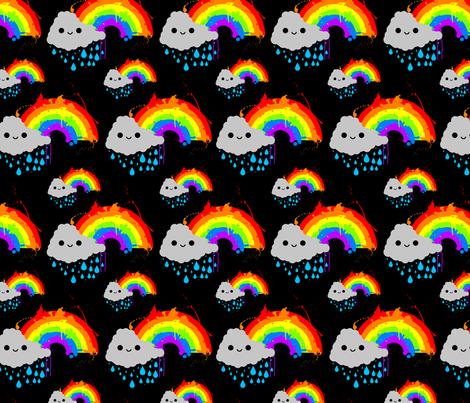 Smiley_Rainbow_Cloud_pattern_1 fabric by joeyc on Spoonflower - custom fabric