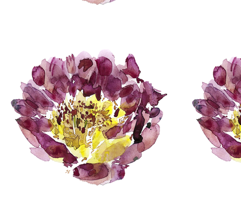 C'EST LA VIV™ Garden Lark Collection_Single Peony fabric by cest_la_viv on Spoonflower - custom fabric