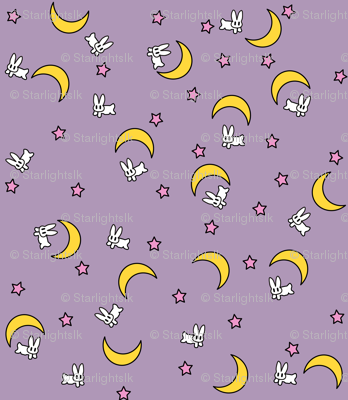 Bunny of the Moon Blanket Print