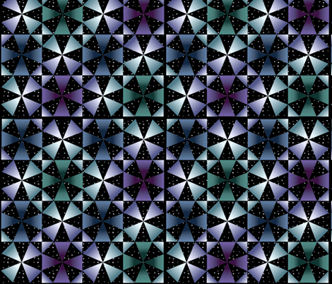 Kaleidoscope night sky-1 fabric by mina on Spoonflower - custom fabric