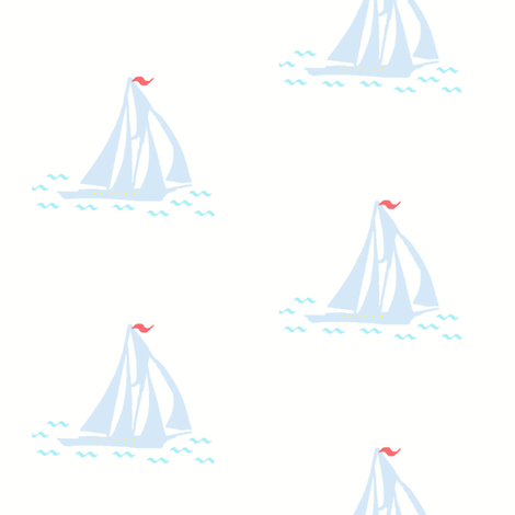 Blue Schooner fabric by captiveinflorida on Spoonflower - custom fabric