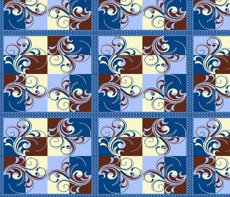 Cafe Scroll Quilt fabric by kdl on Spoonflower - custom fabric