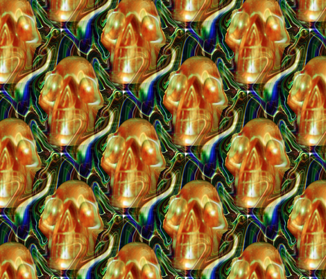 skull_fabric fabric by farrellart on Spoonflower - custom fabric