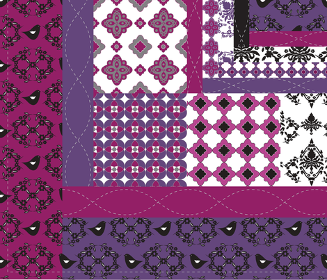 Purple Reign fabric by deesignor on Spoonflower - custom fabric