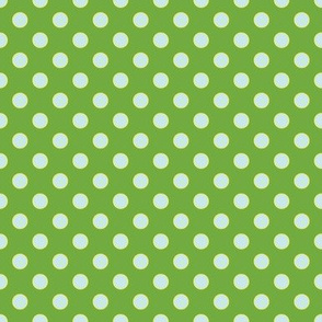 Chlorophyll-Green with Light Blue Dots
