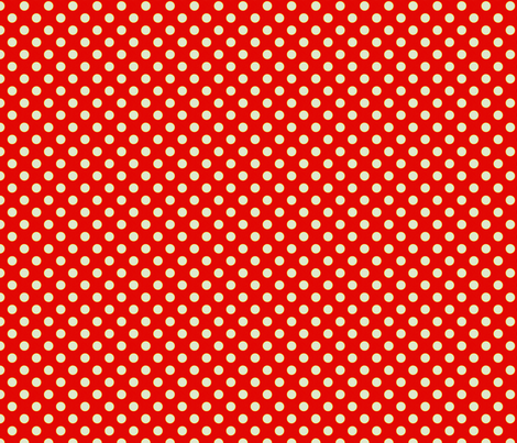 Red-Orange with Light Blue Dots fabric by anntuck on Spoonflower - custom fabric