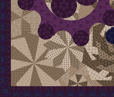 Variations on a Gear Quilt fabric by ailau on Spoonflower - custom fabric
