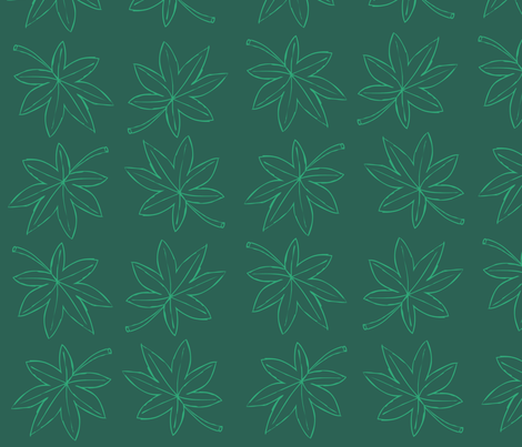 Leaf - Grieving Mother's Garden's fabric by paragonstudios on Spoonflower - custom fabric