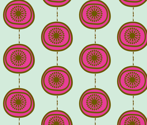 Chocolate & pink marshmallow delight fabric by scribbleheaddesigns on Spoonflower - custom fabric