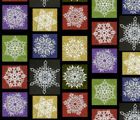 Snowflake Fete fabric by Hazelhills on Spoonflower - custom fabric