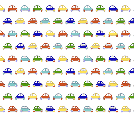 funny cars fabric by ellephantine on Spoonflower - custom fabric