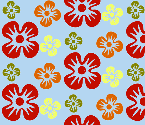 Mod Hawaii fabric by beary_organics on Spoonflower - custom fabric