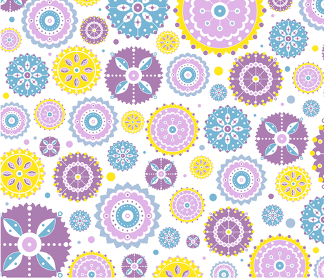 Summer_Flowers fabric by fabulosa1984 on Spoonflower - custom fabric