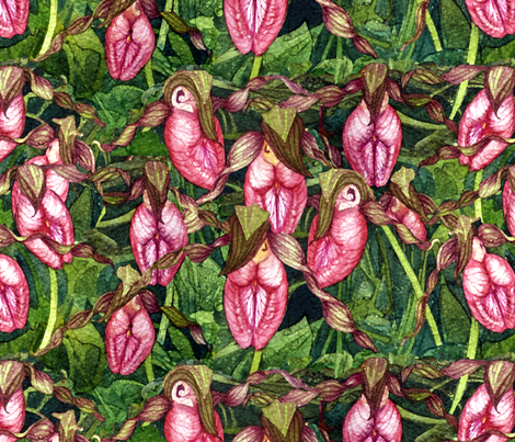 Pink Ladies fabric by helenklebesadel on Spoonflower - custom fabric