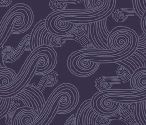 Tali'Zorah Scroll - Low Contrast fabric by meteo on Spoonflower - custom fabric