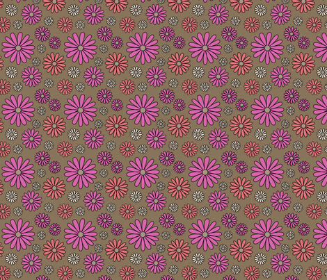 I *Heart* Daisies - focus fabric
