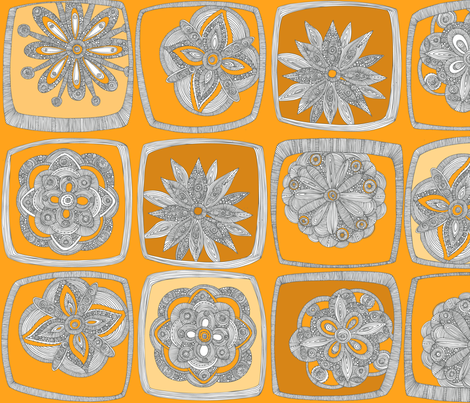 Like a Quilt ~Yellow fabric by valentinaharper on Spoonflower - custom fabric