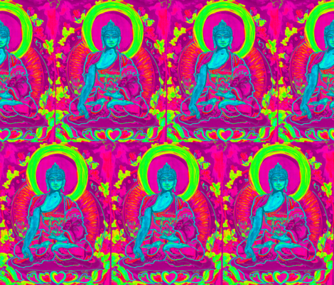 Medicine Buddha-ed fabric by mjw23 on Spoonflower - custom fabric