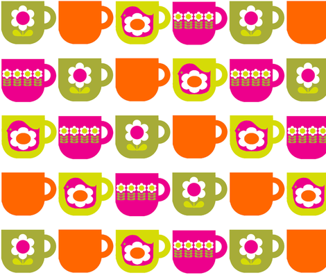 Cups_Repeat_Pink fabric by aliceapple on Spoonflower - custom fabric