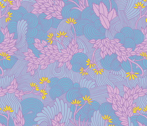 Floral 1 fabric by rikkib on Spoonflower - custom fabric