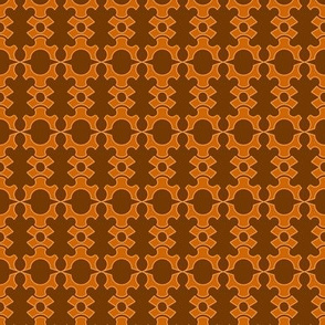 Half Gear And Crown - Orange Brown